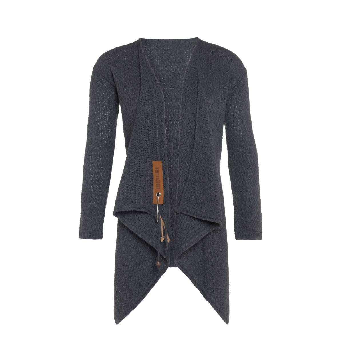 knit factory 1396310 emy vest 4042 antraciet 2