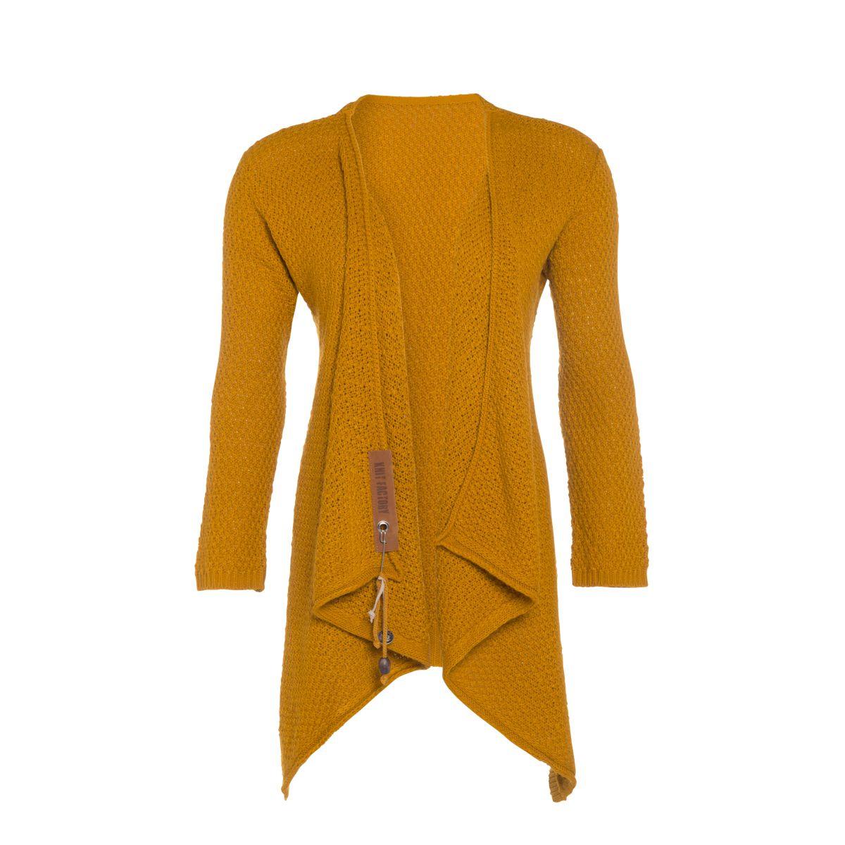 knit factory 1396317 emy vest 4042 oker 2