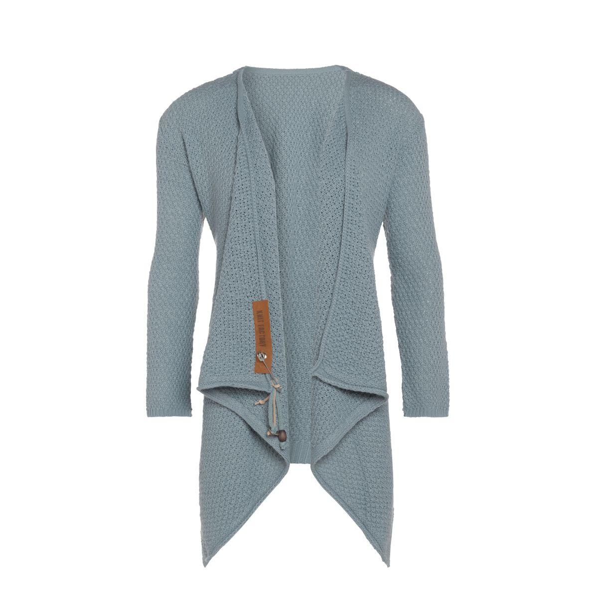knit factory 1396209 emy vest 3638 stone green 2