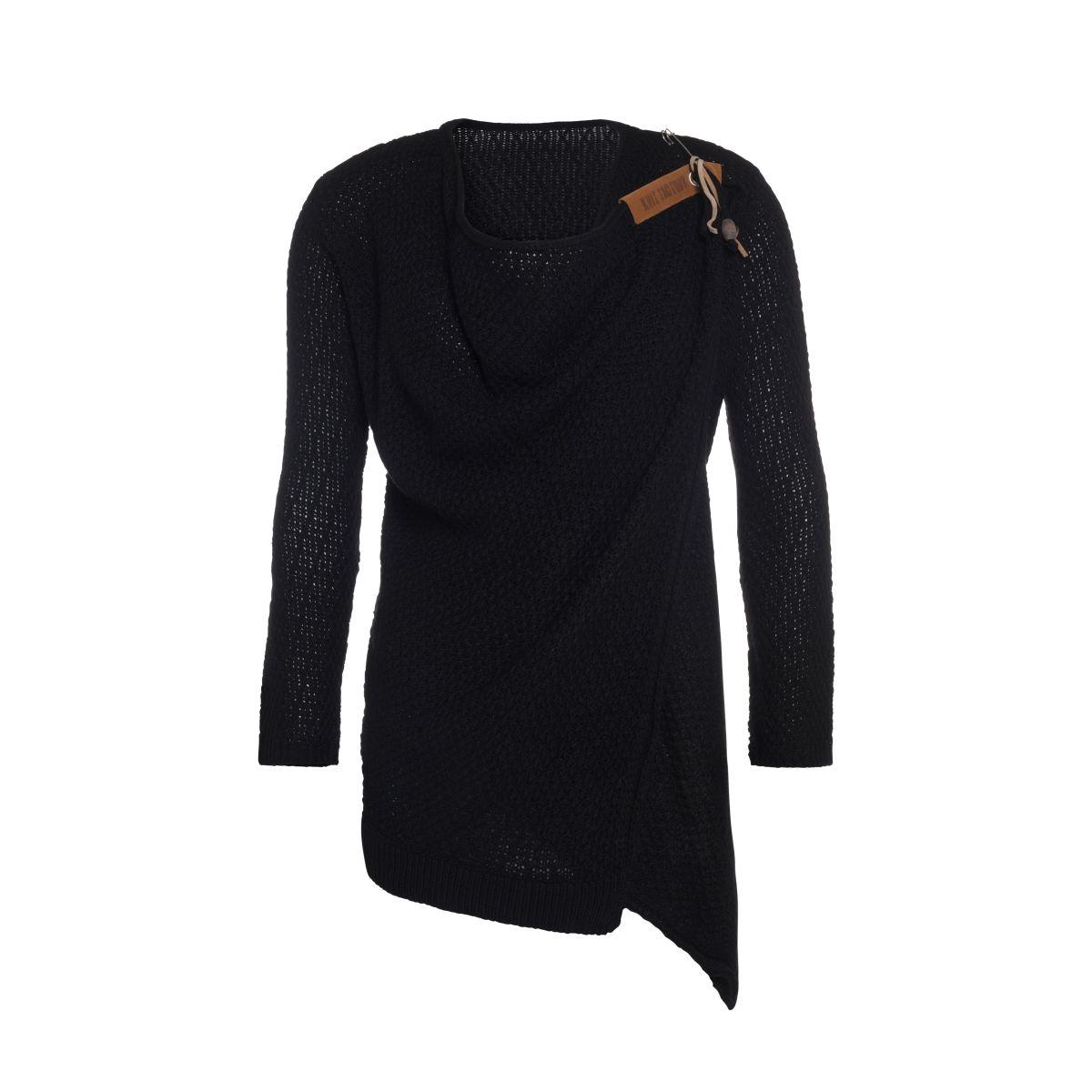 knit factory 1396200 emy vest 3638 zwart 1
