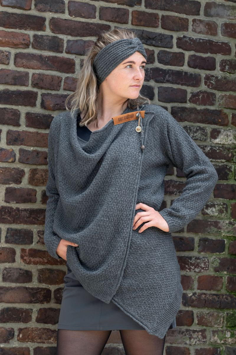 emy knitted cardigan anthracite 4042