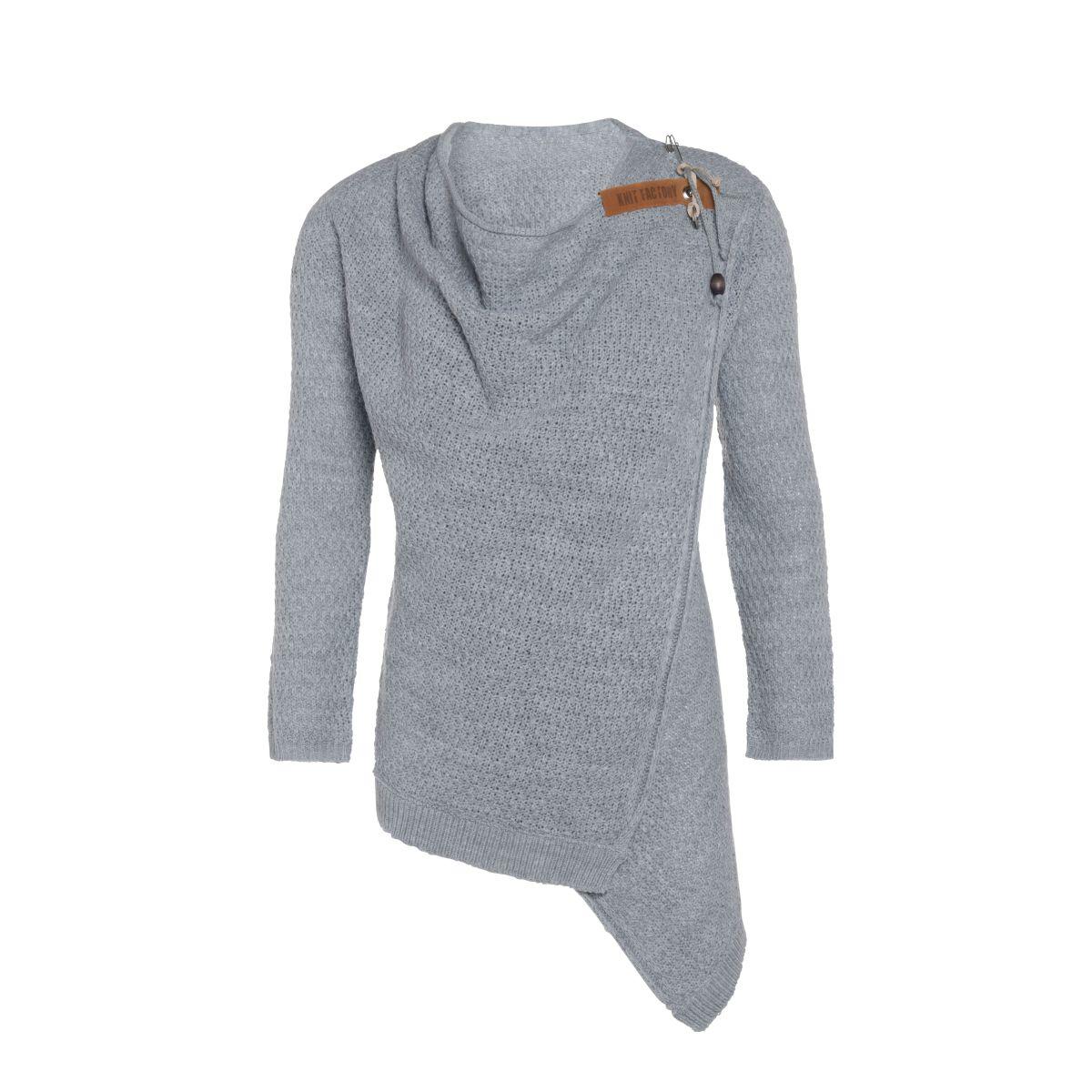 emy knitted cardigan light grey 3638