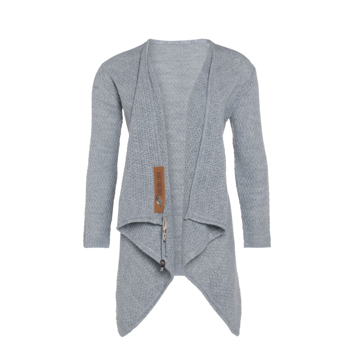 emy knitted cardigan light grey 3638