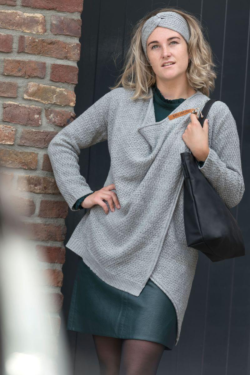 emy knitted cardigan light grey 4042