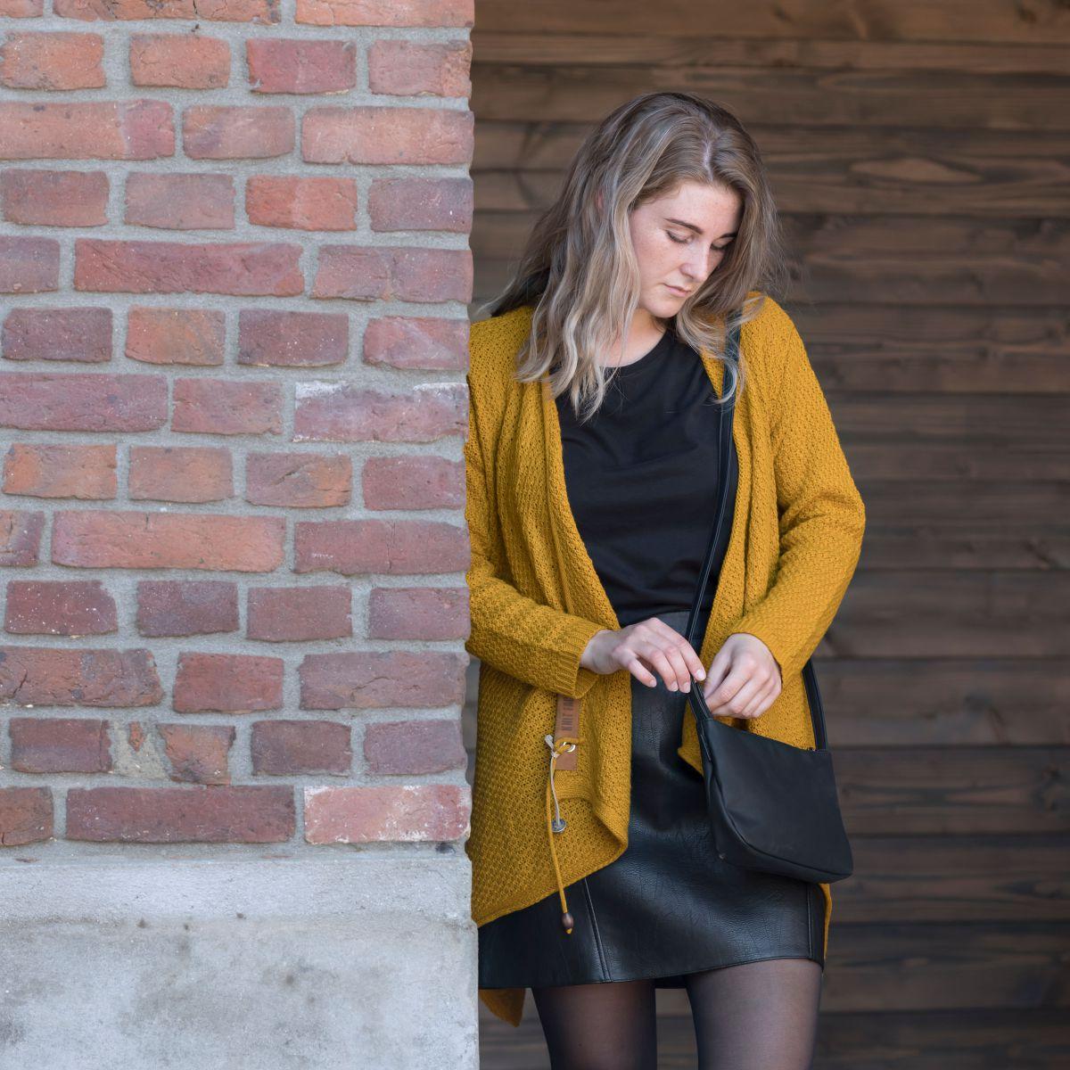 emy knitted cardigan ochre 3638