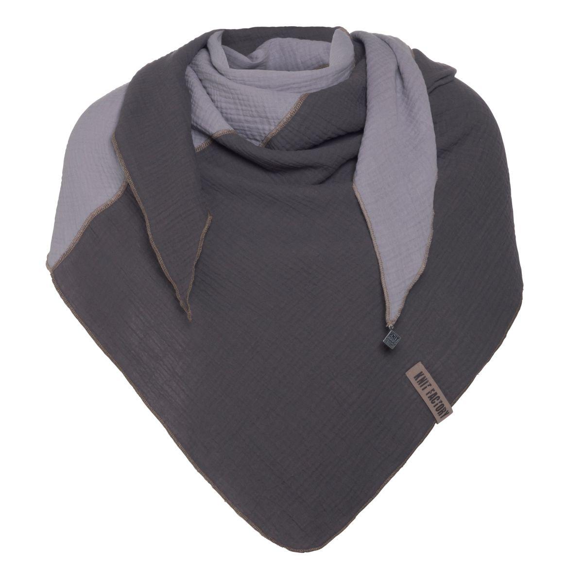 knit factory kf151060050 fay omslagdoek antraciet grijs 1