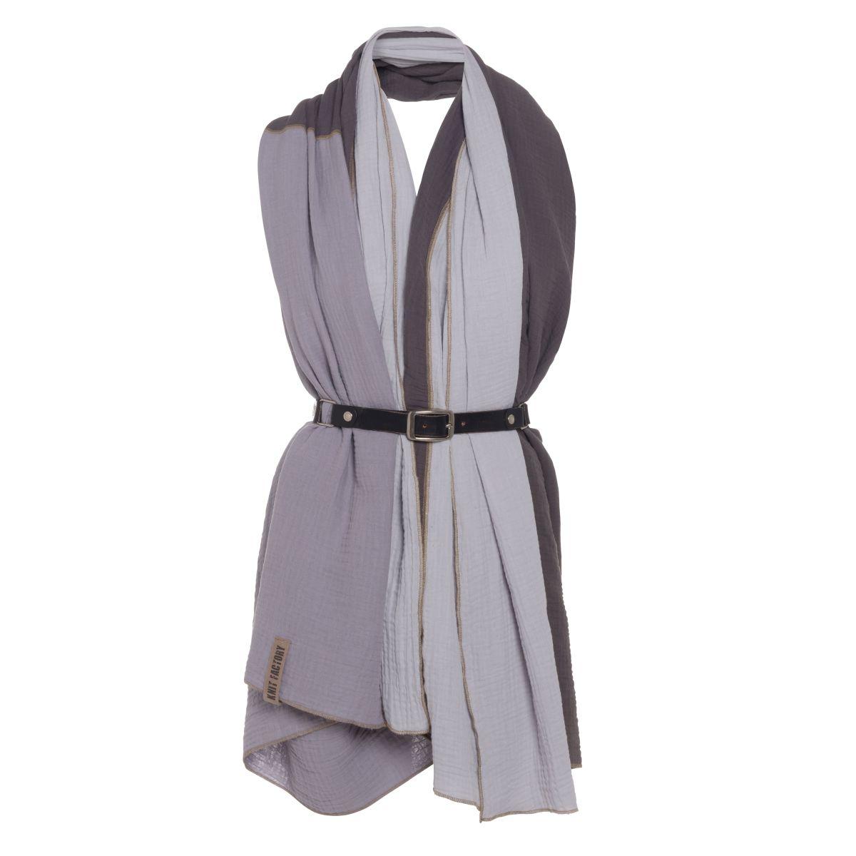 knit factory kf151056050 fay pareo antraciet grijs 3