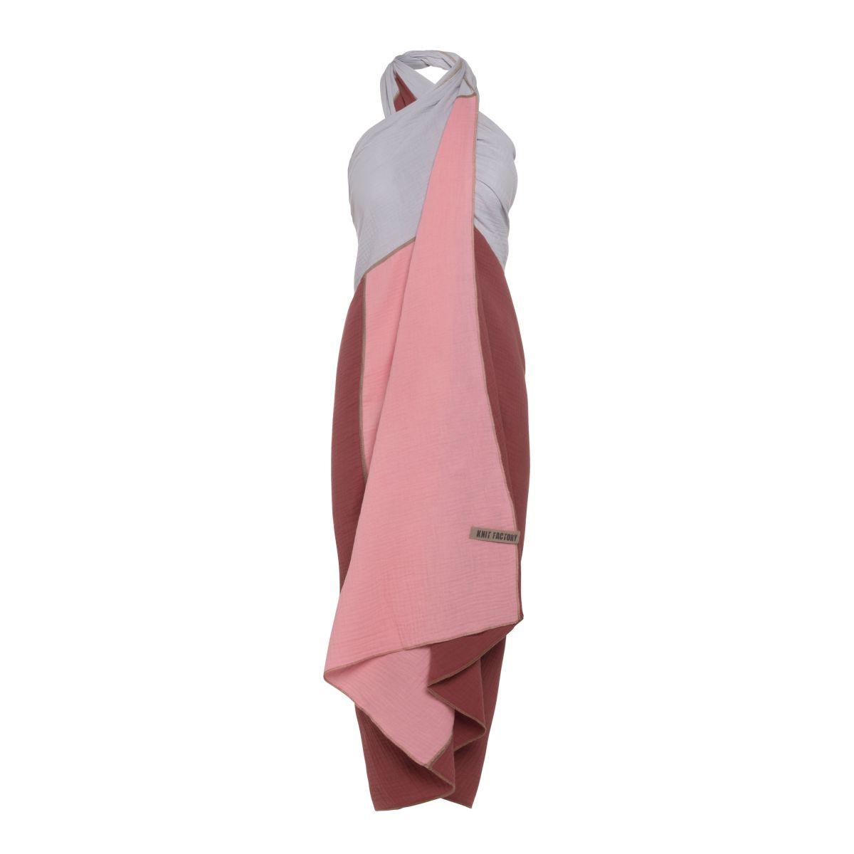 knit factory kf151056061 fay pareo stone red roze 1