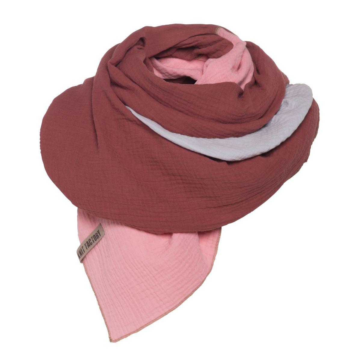 knit factory kf151056061 fay pareo stone red roze 2