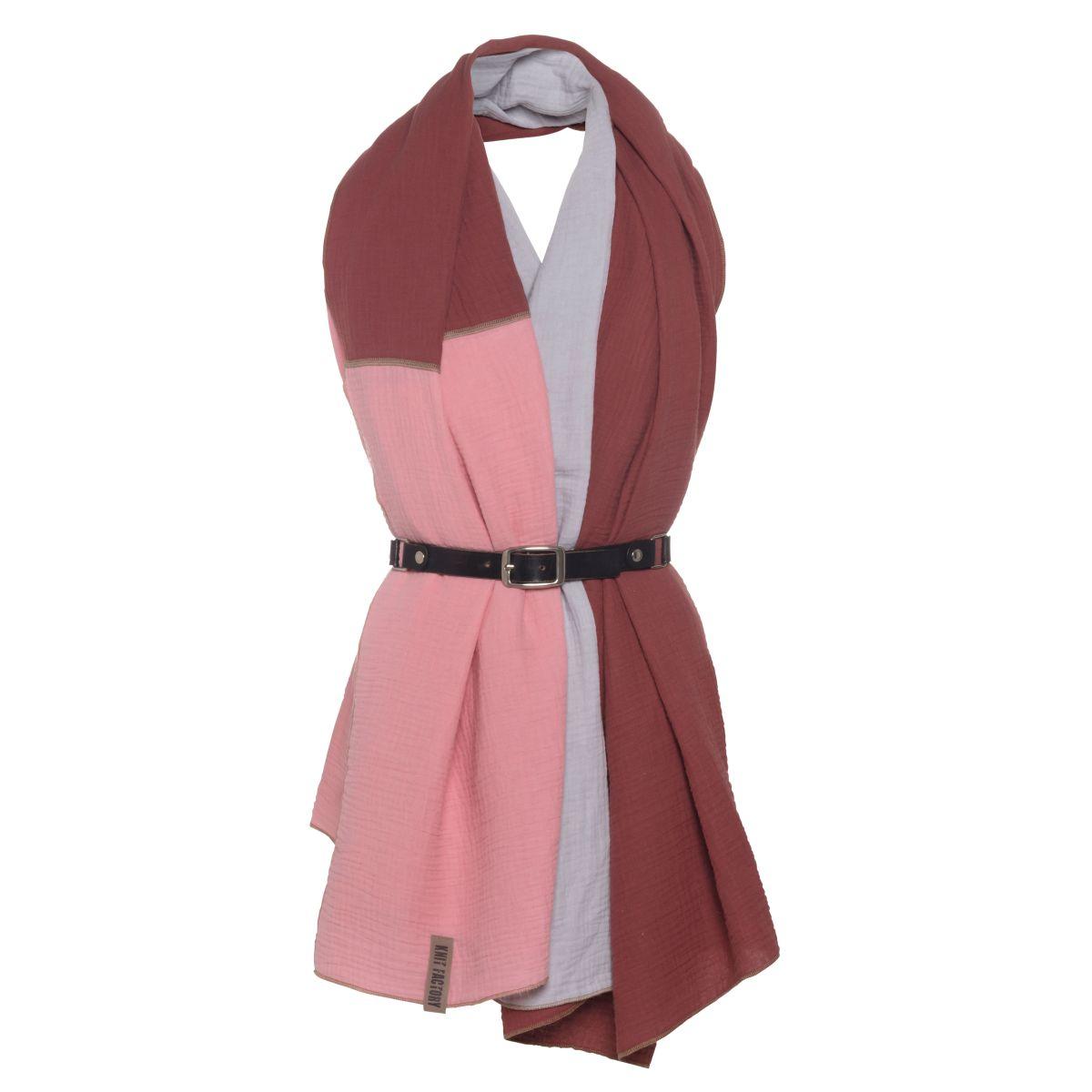 knit factory kf151056061 fay pareo stone red roze 3