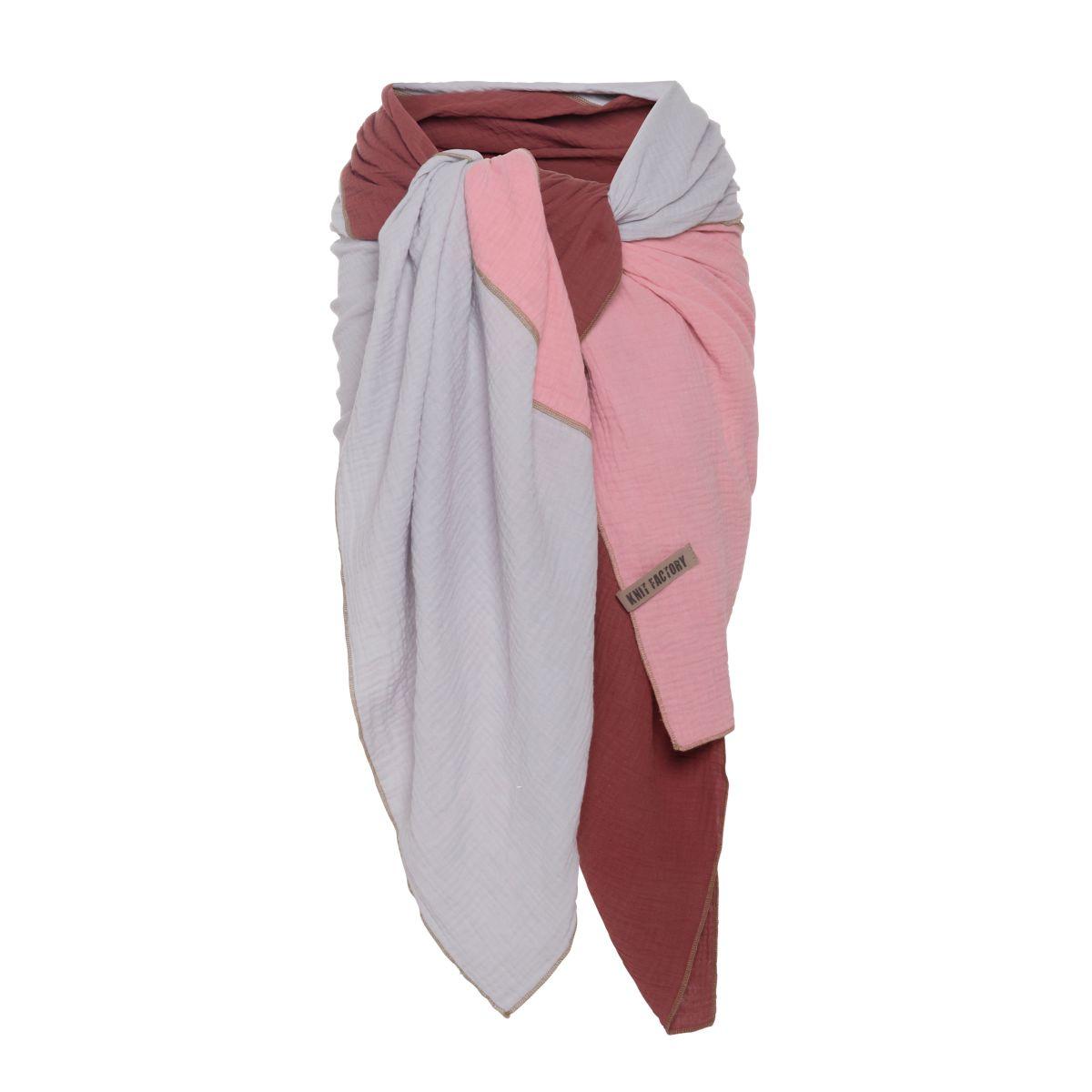 knit factory kf151056061 fay pareo stone red roze 4