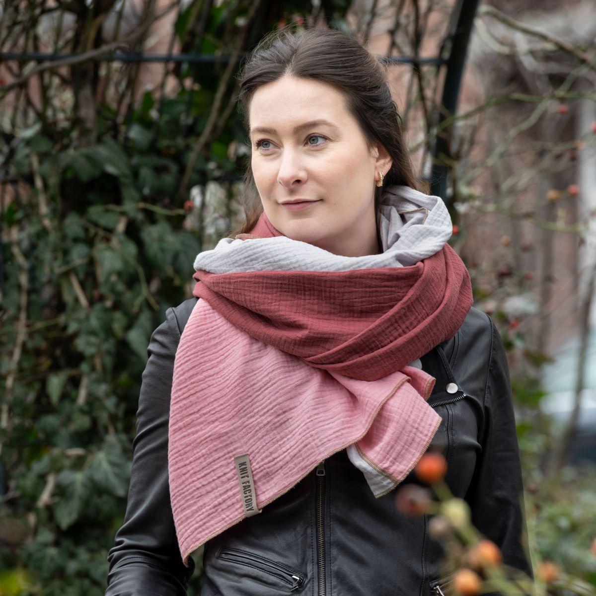 knit factory kf151056061 fay pareo stone red roze 6