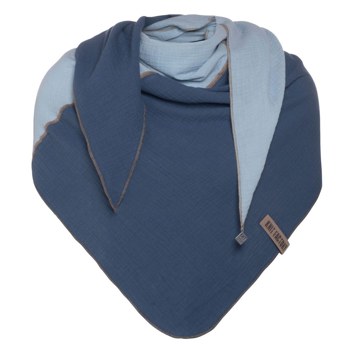 fay triangle scarf jeansindigo