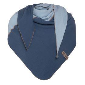 Fay Triangle Scarf Jeans/Indigo