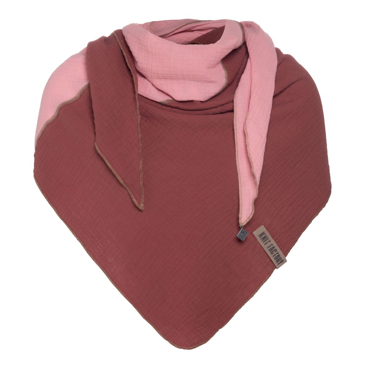 fay triangle scarf stone redpink