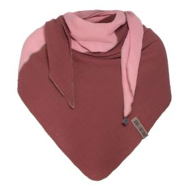 Fay Triangle Scarf Stone Red/Pink