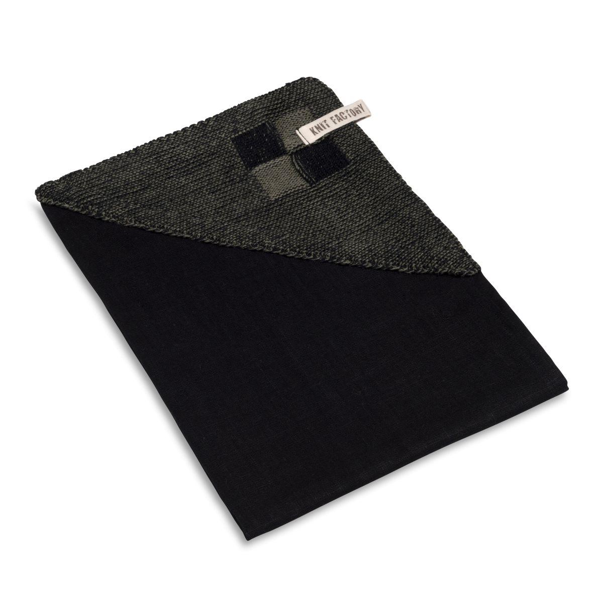 geschirrtuch block schwarzkhaki