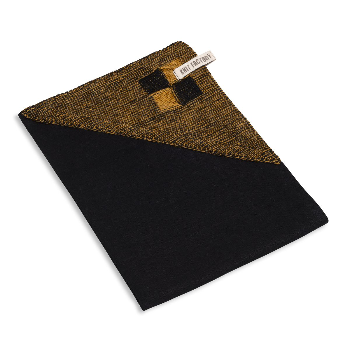 geschirrtuch block schwarzocker