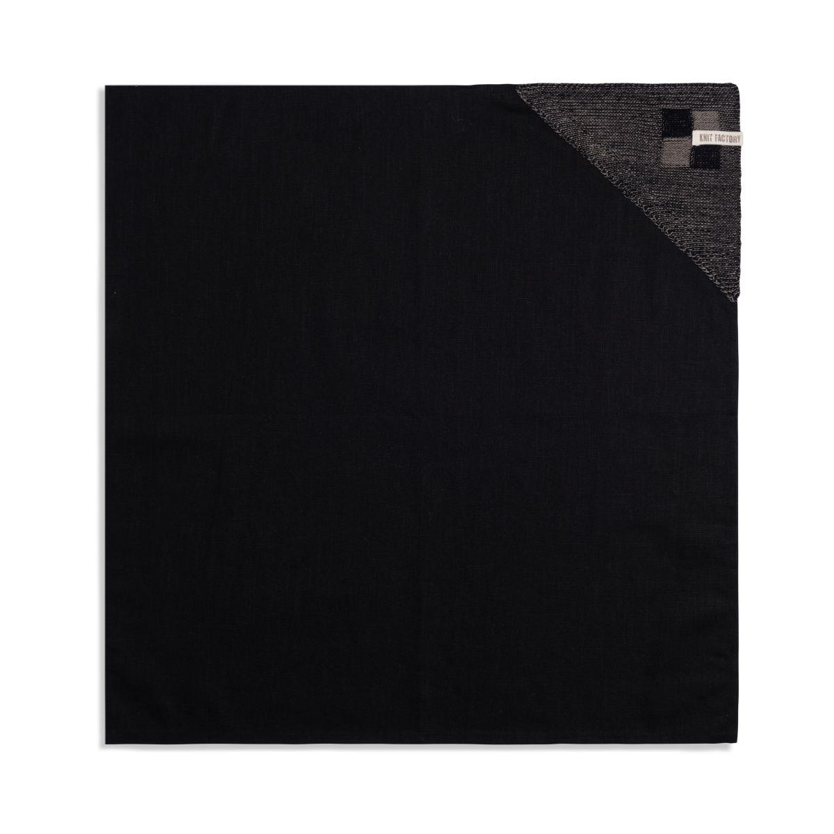 geschirrtuch block schwarztaupe