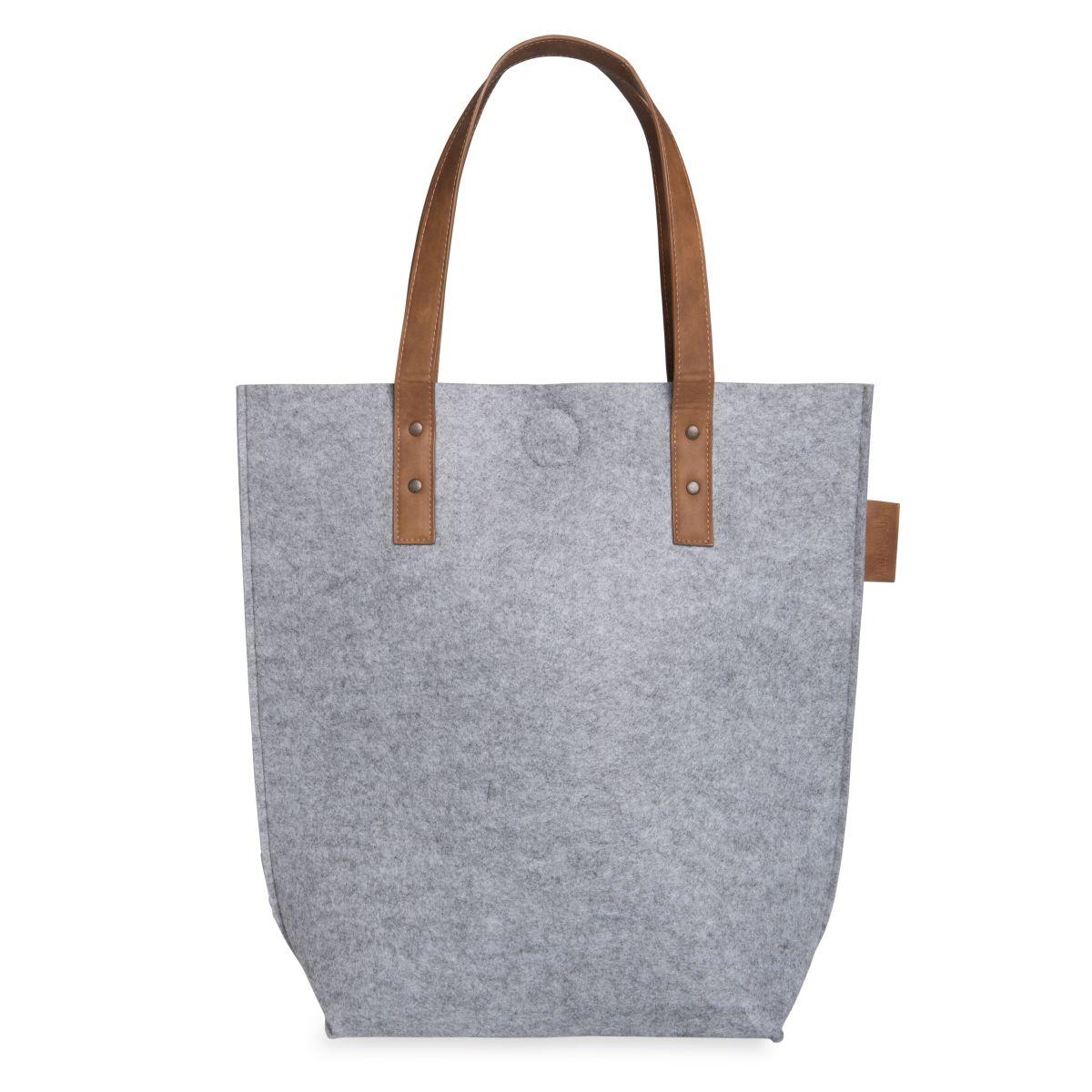 knit factory 1719111 gwen handtas licht grijs 1