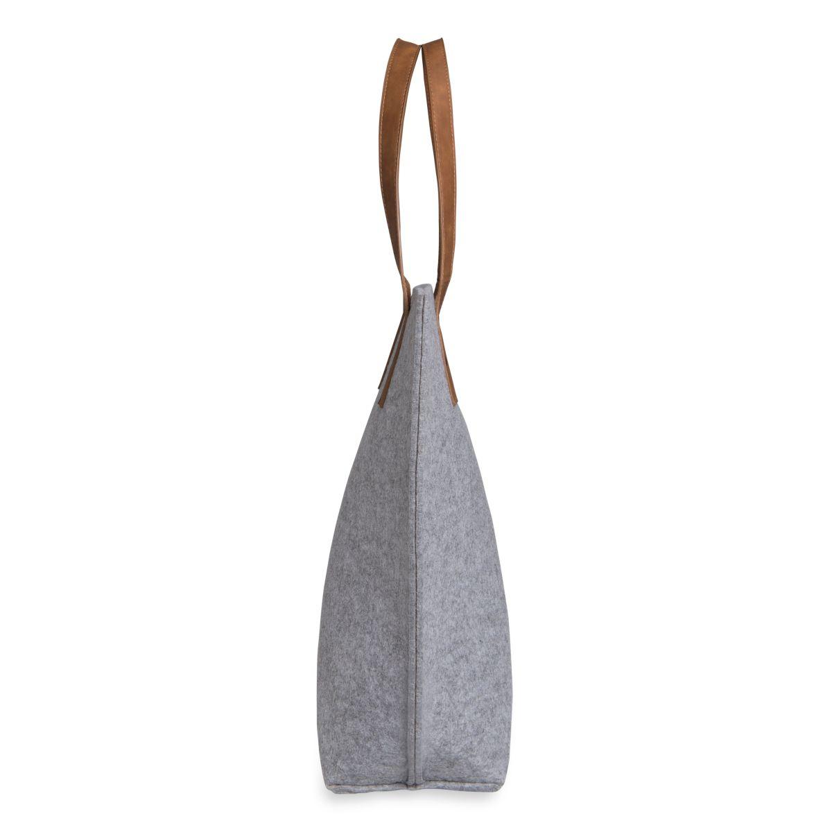 knit factory 1719111 gwen handtas licht grijs 2