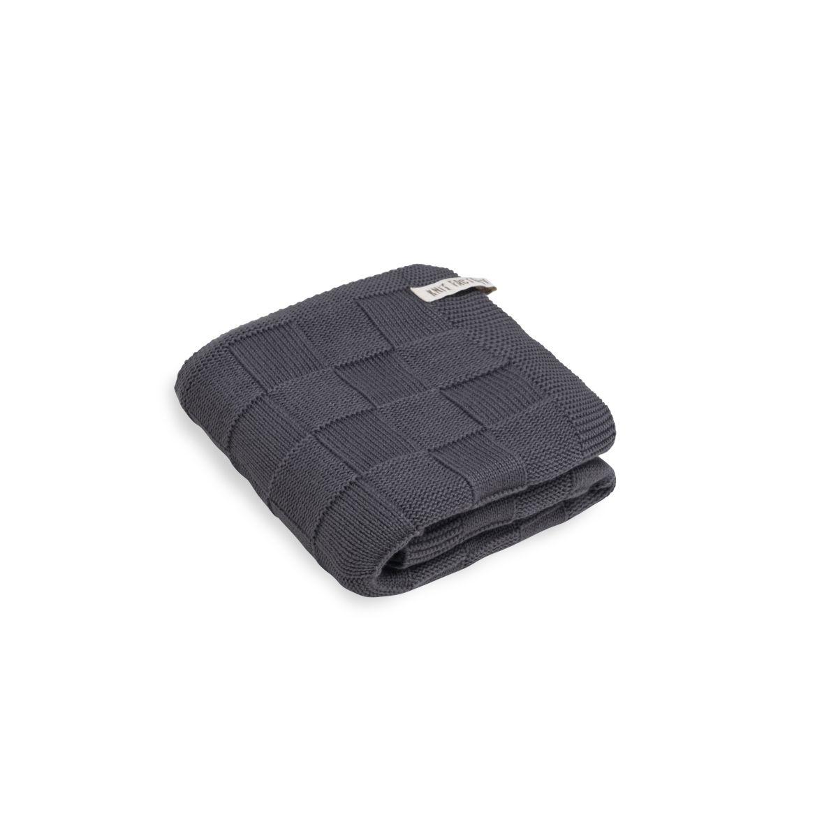 knit factory kf20222501050 handdoek ivy antraciet 60x110 1