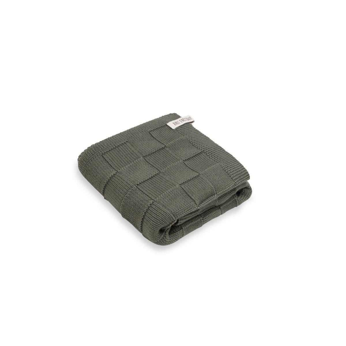 knit factory kf20222502550 handdoek ivy khaki 60x110 1