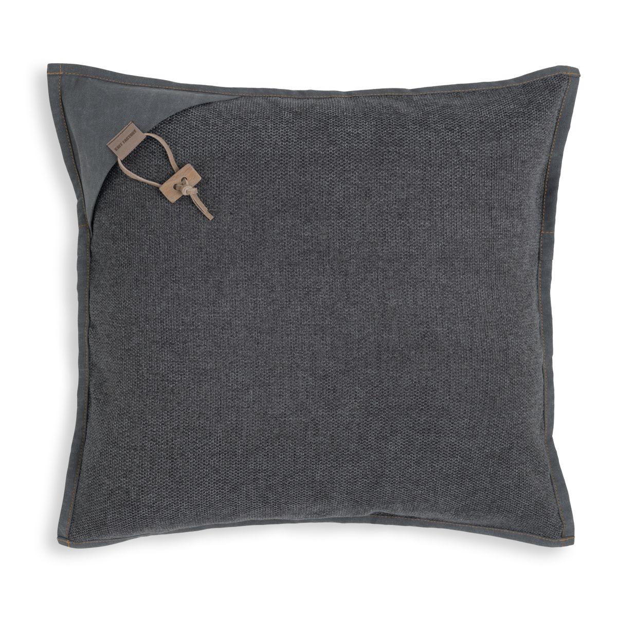 knit factory kf154012010 hope kussen antraciet 50x50 1