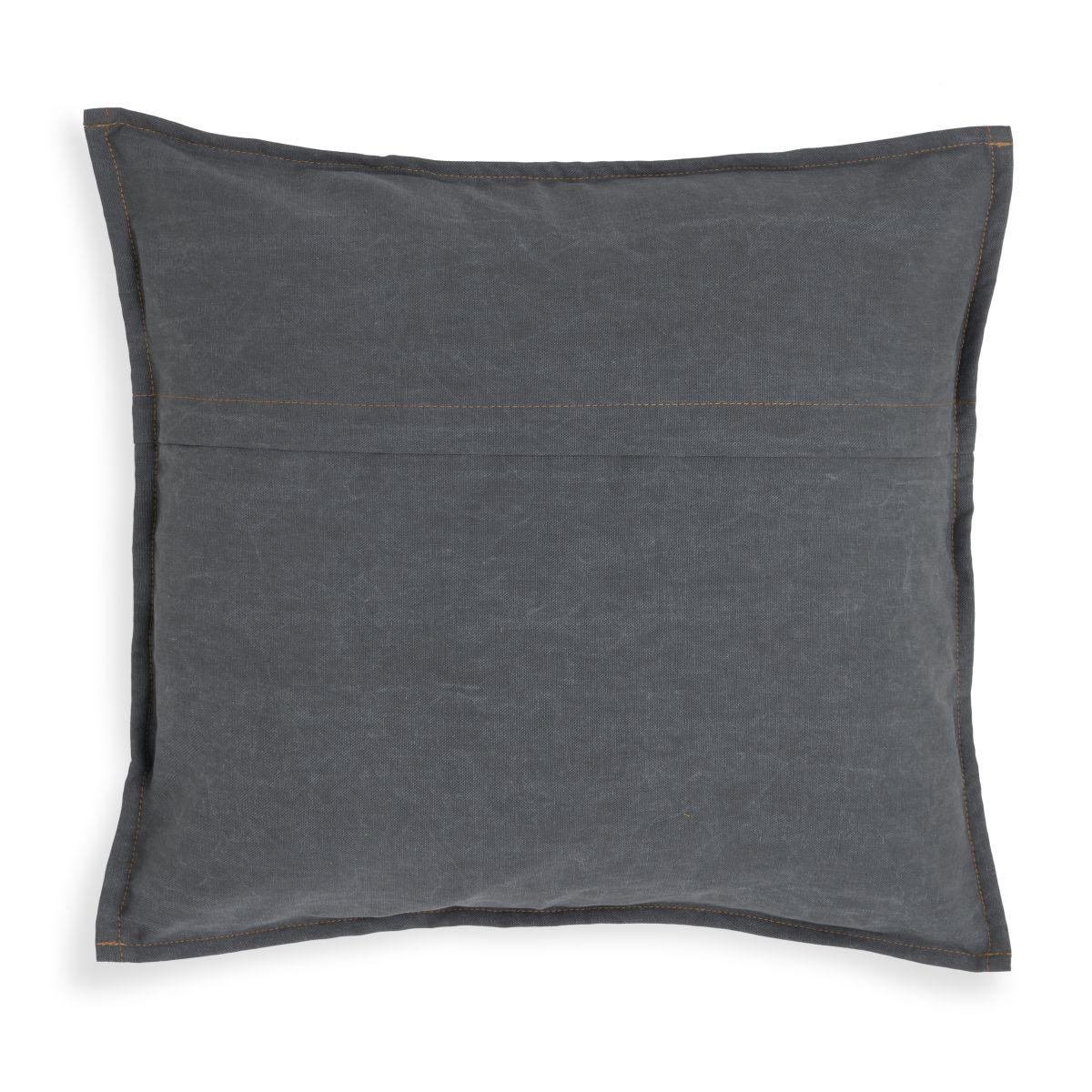 knit factory kf154012010 hope kussen antraciet 50x50 2