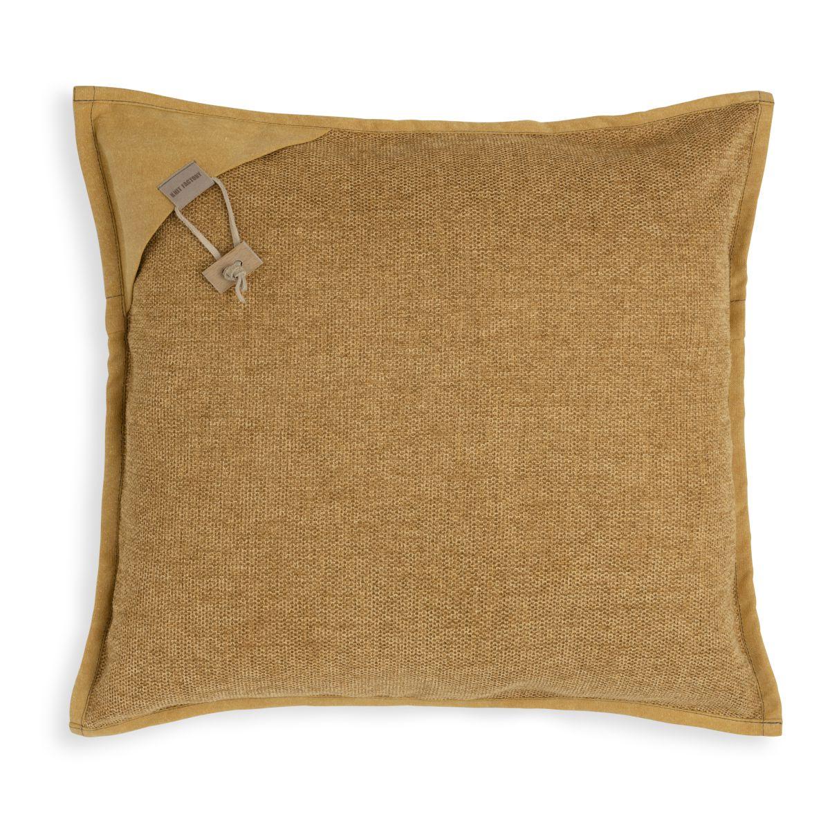 knit factory kf154012017 hope kussen oker 50x50 1
