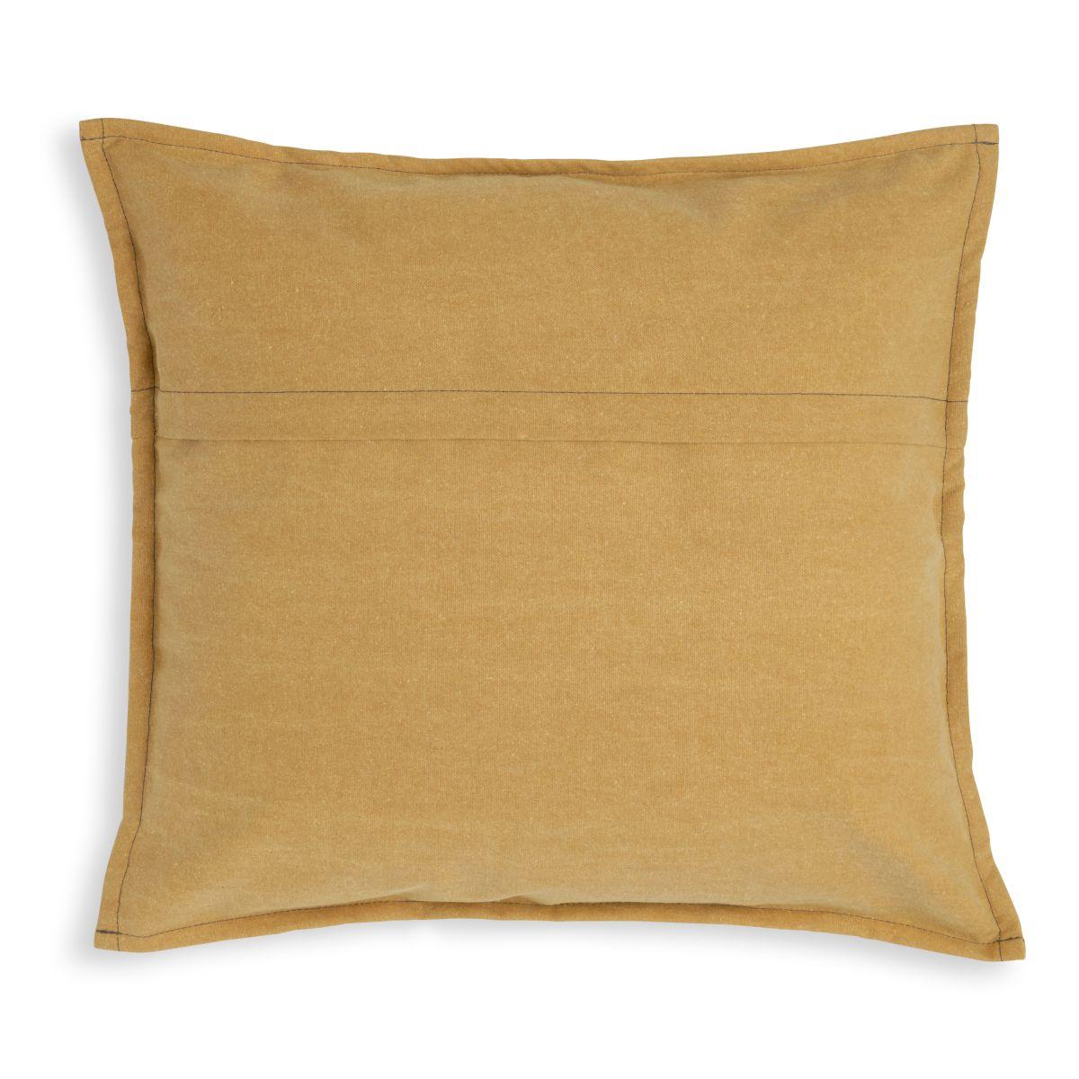 knit factory kf154012017 hope kussen oker 50x50 2