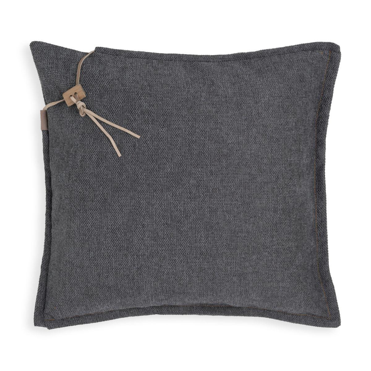 knit factory kf153012010 imre kussen antraciet 50x50 1