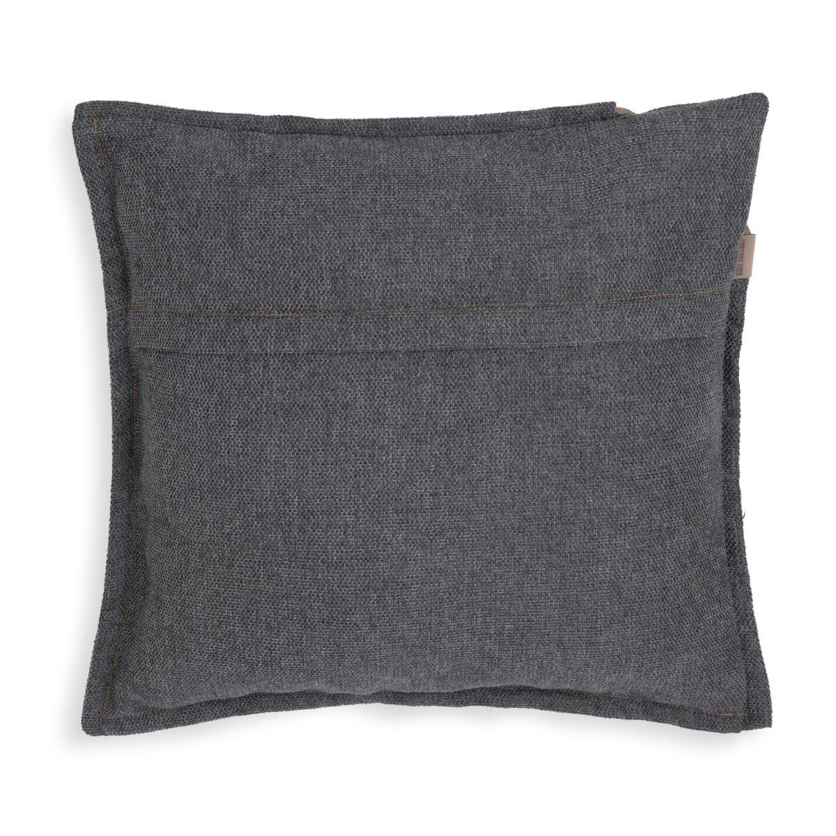 knit factory kf153012010 imre kussen antraciet 50x50 2