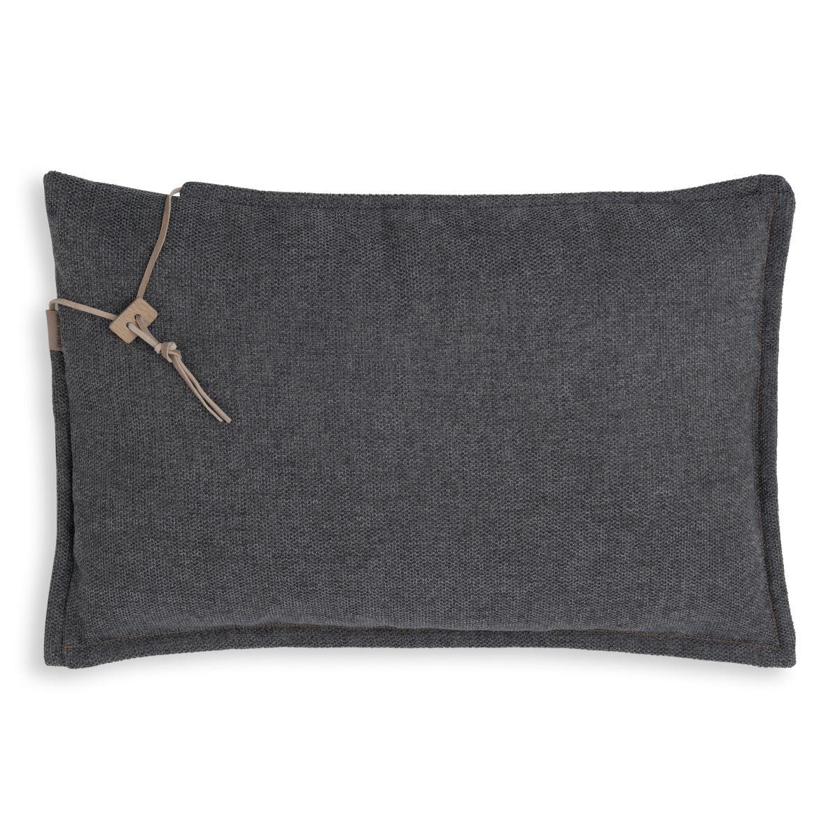 knit factory kf153013010 imre kussen antraciet 60x40 1