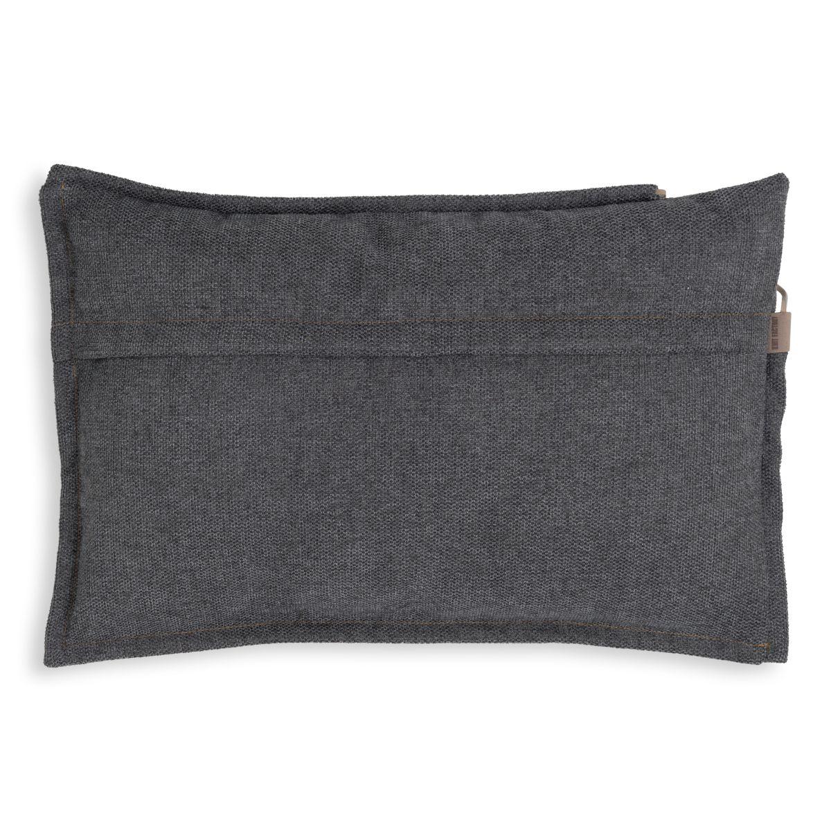 knit factory kf153013010 imre kussen antraciet 60x40 2