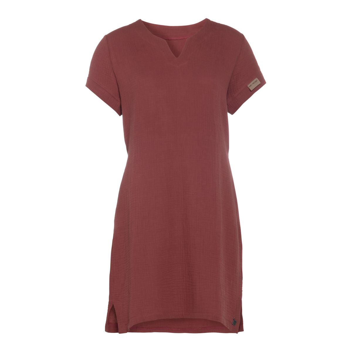 indy casual dress stone red l