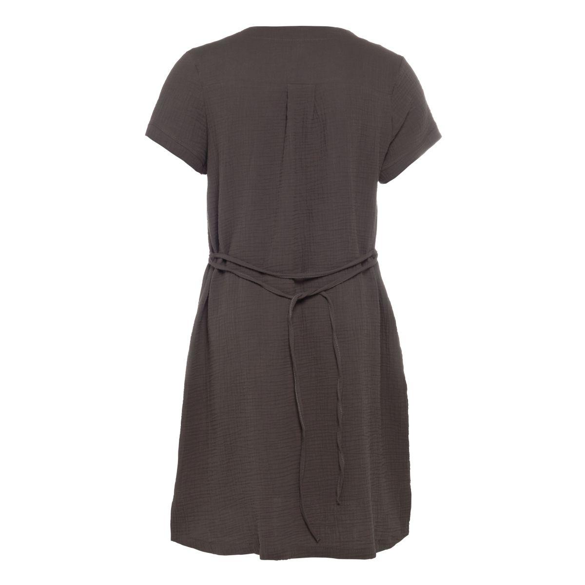 knit factory kf15012001051 indy jurk antraciet l 2