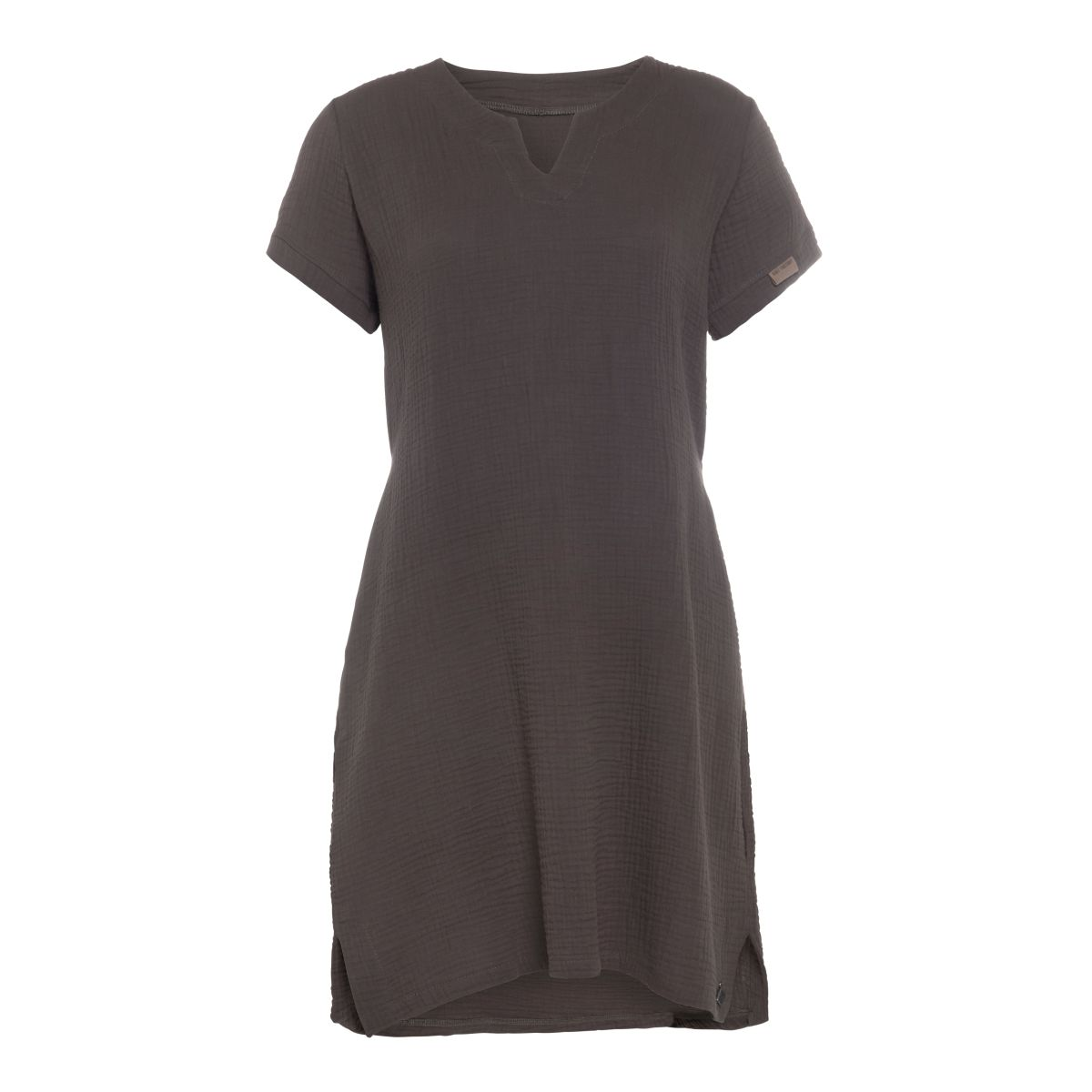 knit factory kf15012001050 indy jurk antraciet m 1