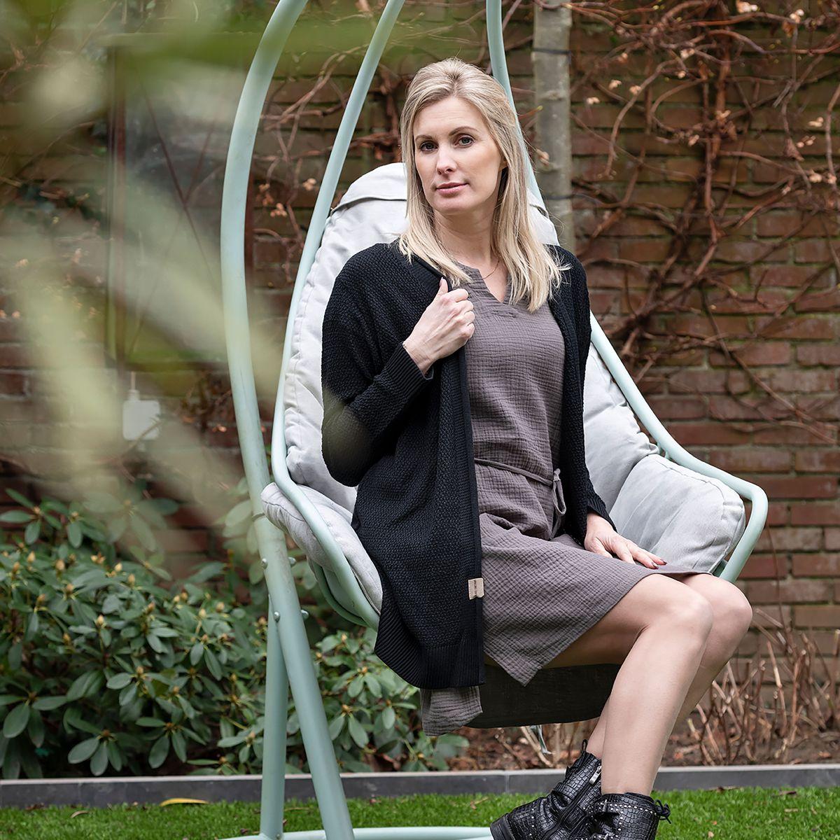knit factory kf15012001050 indy jurk antraciet m 5