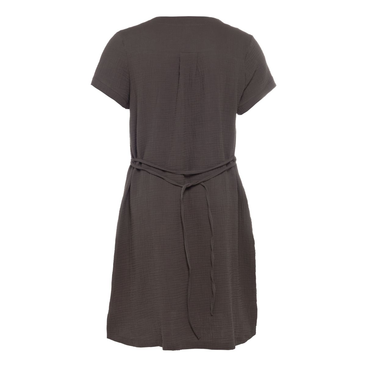 knit factory kf15012001049 indy jurk antraciet s 2