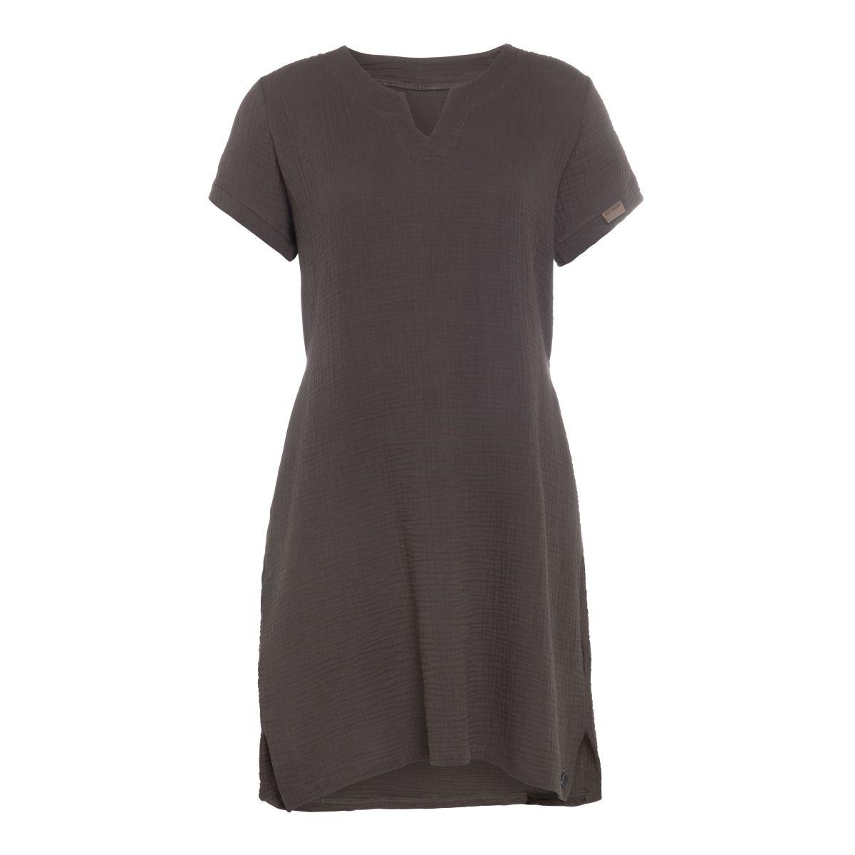 knit factory kf15012001052 indy jurk antraciet xl 1