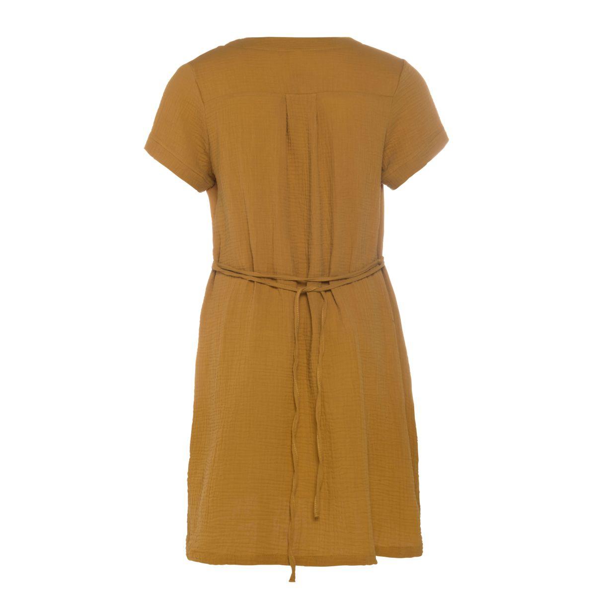 knit factory kf15012001751 indy jurk oker l 2