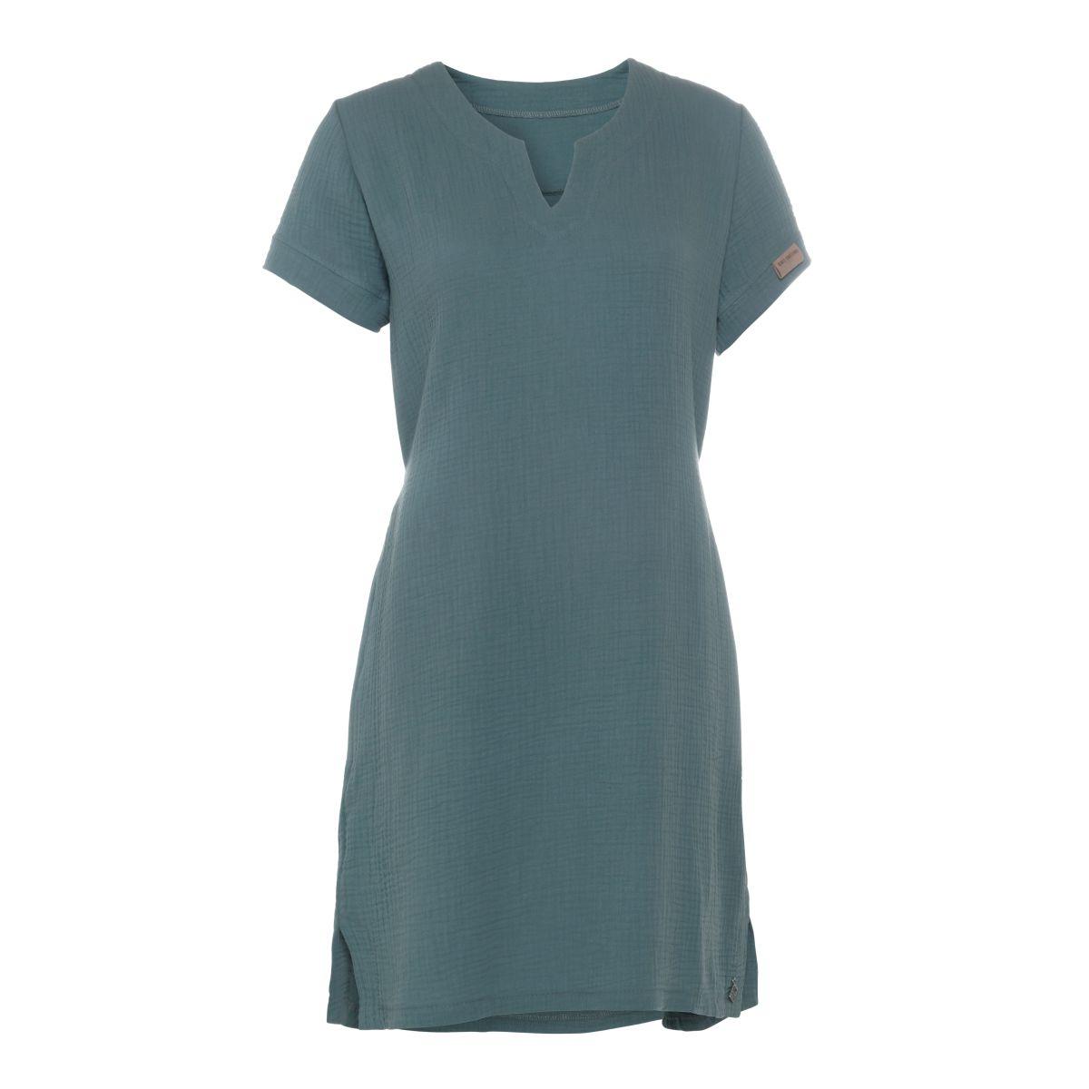 knit factory kf15012000949 indy jurk stone green s 1