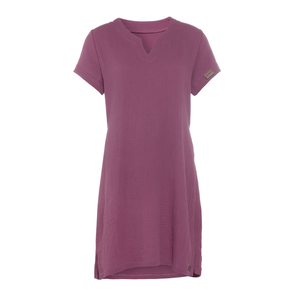 knit factory kf15012004350 indy jurk purple m 1