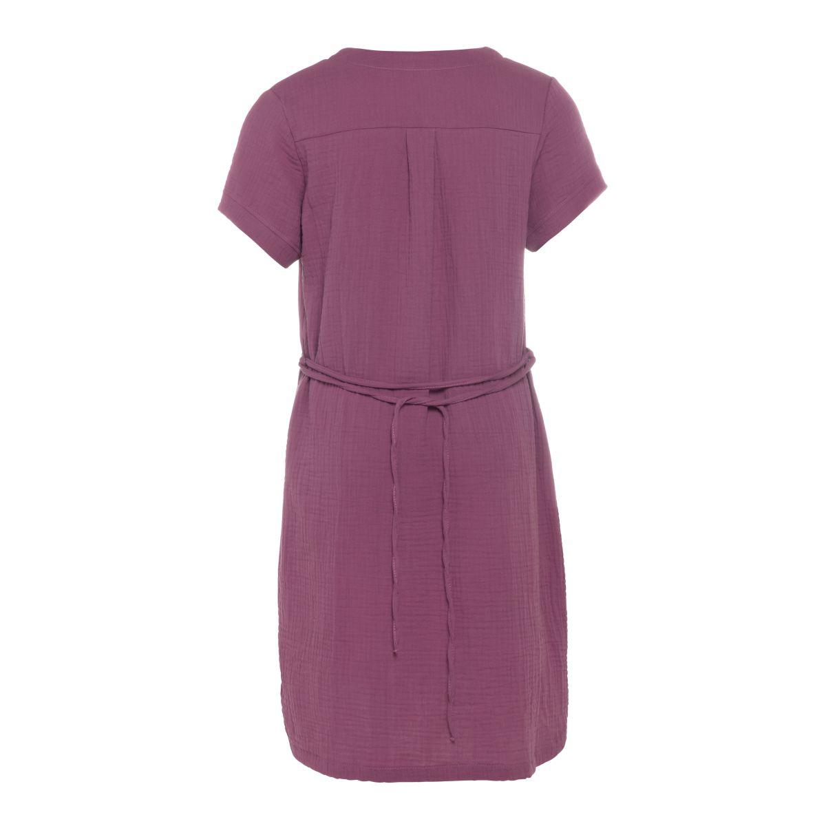 knit factory kf15012004350 indy jurk purple m 2