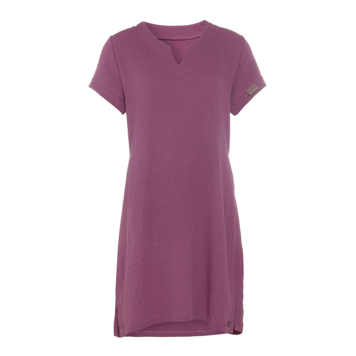 knit factory kf15012004349 indy jurk purple s 1