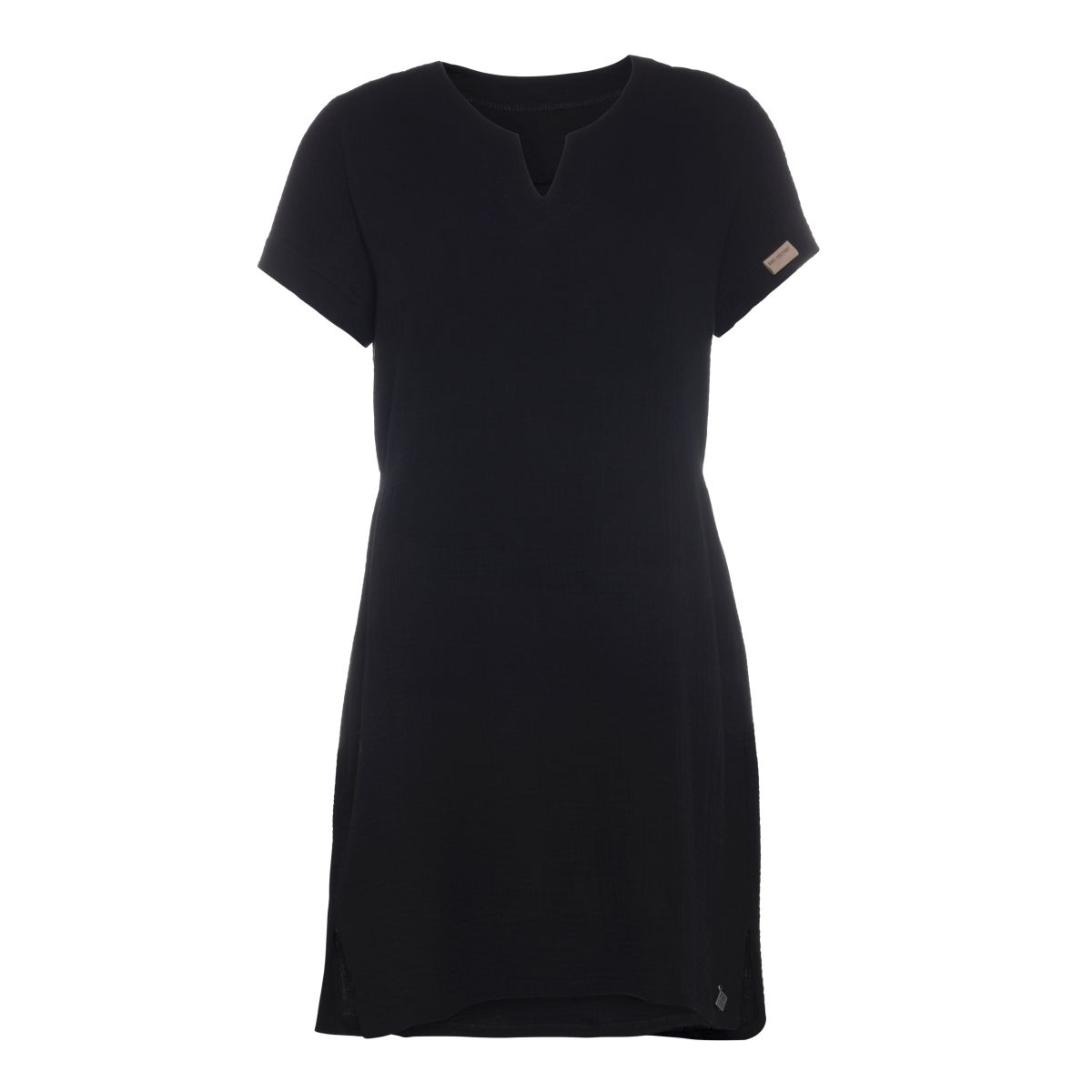 knit factory kf15012000051 indy jurk zwart l 1