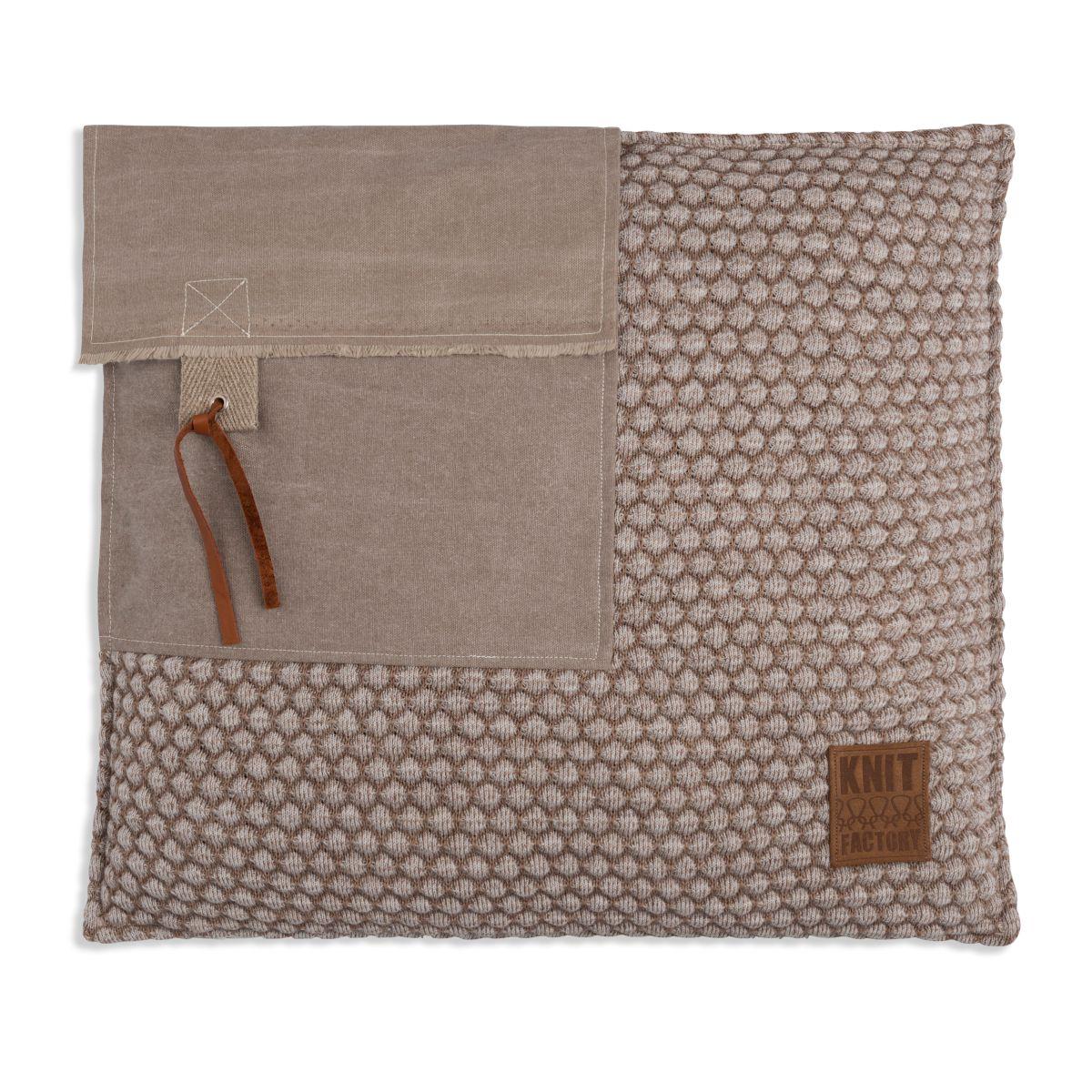 knit factory 1251253 kussen 50x50 jack marron beige 1