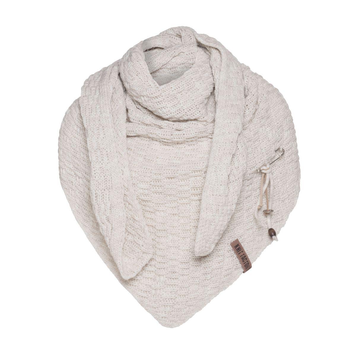 jaida triangle scarf beige