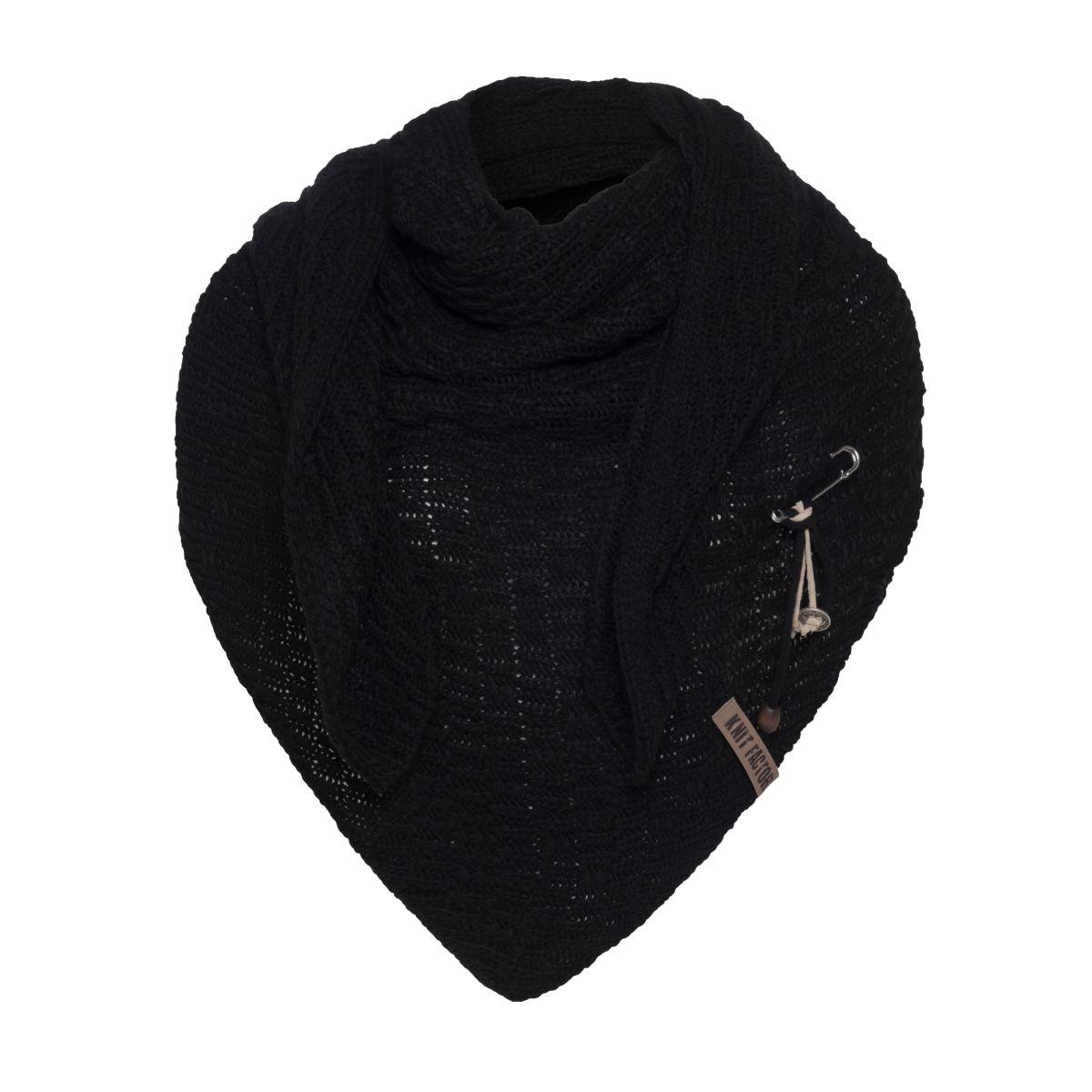 jaida triangle scarf black